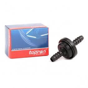 Bremskraftverstärker für OPEL CORSA C (F08, F68) 1.2 75 PS ab Baujahr 09.2000 TOPRAN Ventil, Bremskraftverstärker (206 111) für