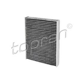 Filter, Innenraumluft Länge: 240mm, Breite: 189mm, Höhe: 35mm mit OEM-Nummer 1204464