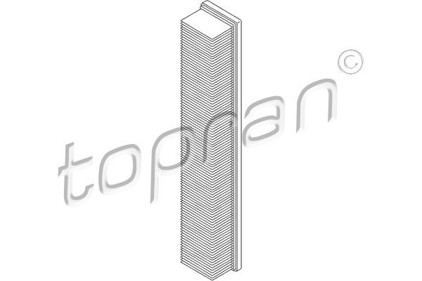 TOPRAN  401 036 Luftfilter Länge: 520mm, Breite: 86mm, Höhe: 57mm