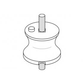 Mounting, automatic transmission with OEM Number 23 70 1 141 614