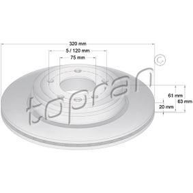 Bremsscheibe Bremsscheibendicke: 20mm, Felge: 5-loch, Ø: 320mm mit OEM-Nummer 6772085