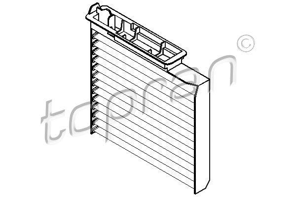 TOPRAN  700 462 Filter, interior air Length: 221mm, Width: 187mm, Height: 41mm