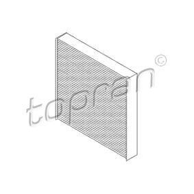Filter, Innenraumluft Länge: 223mm, Breite: 225mm, Höhe: 35mm mit OEM-Nummer 6479 A1
