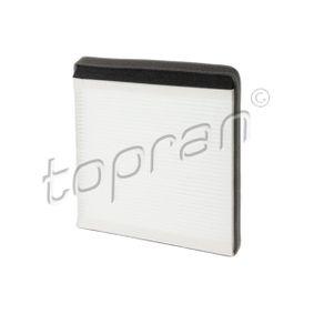 Filter, Innenraumluft Länge: 218mm, Breite: 208mm, Höhe: 18mm mit OEM-Nummer 6447-Z4
