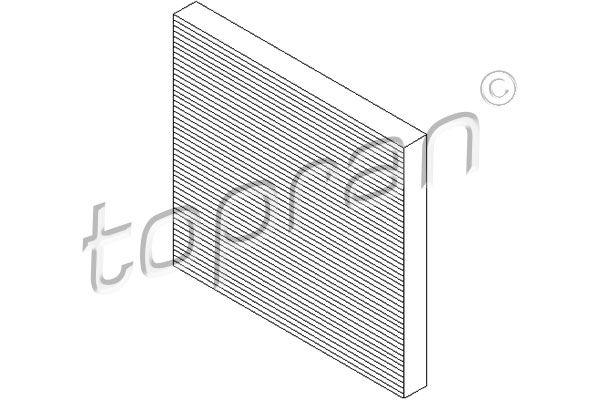 TOPRAN  720 338 Filter, Innenraumluft Länge: 251mm, Breite: 236mm, Höhe: 26mm