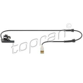 TOPRAN Sensor, Raddrehzahl 721 609 für PEUGEOT 307 SW (3H) 2.0 16V ab Baujahr 03.2005, 140 PS