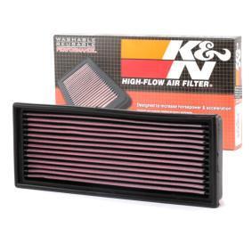 K&N Filters Luftfilter 33-2001 für AUDI 90 (89, 89Q, 8A, B3) 2.2 E quattro ab Baujahr 04.1987, 136 PS