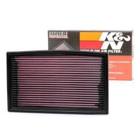 K&N Filters Luftfilter 33-2029 für AUDI 80 (8C, B4) 2.8 quattro ab Baujahr 09.1991, 174 PS