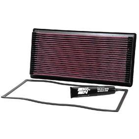 K&N Filters  33-2062-1 Luftfilter Länge: 405mm, Breite: 198mm, Höhe: 38mm