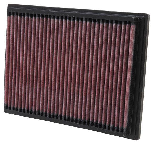 K&N Filters  33-2070 Luftfilter Länge: 235mm, Breite: 175mm, Höhe: 25mm, Länge: 235mm
