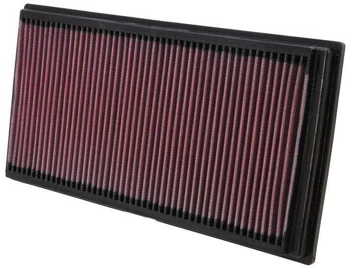 K&N Filters  33-2128 Luftfilter Länge: 356mm, Breite: 183mm, Höhe: 32mm, Länge: 356mm