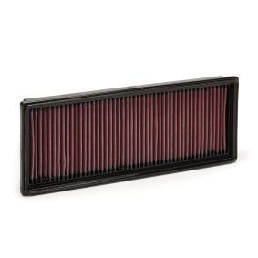 K&N Filters  33-2181 Air Filter Length: 348mm, Width: 132mm, Height: 32mm