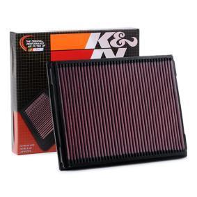 K&N Filters  33-2213 Въздушен филтър дължина: 292мм, ширина: 221мм, височина: 30мм