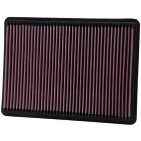 K&N Filters  33-2233 Air Filter Length: 291mm, Width: 216mm, Height: 29mm