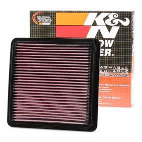 K&N Filters  33-2304 Luftfilter Länge: 222mm, Breite: 217mm, Höhe: 24mm