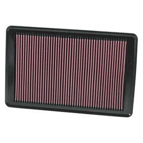 K&N Filters  33-2369 Въздушен филтър дължина: 375мм, ширина: 241мм, височина: 22мм