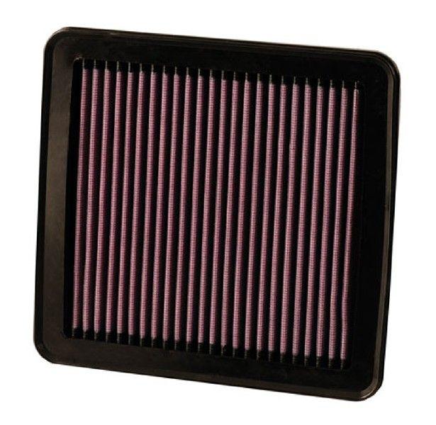 K&N Filters  33-2380 Air Filter Length: 203mm, Width: 191mm, Height: 25mm, Length: 203mm