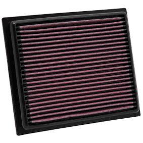 K&N Filters  33-2435 Luftfilter Länge: 221mm, Breite: 187mm, Höhe: 29mm