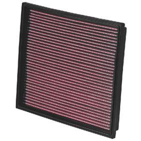 K&N Filters  33-2779 Въздушен филтър дължина: 284мм, ширина: 252мм, височина: 29мм