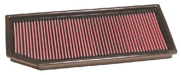 K&N Filters  33-2856 Luftfilter Länge: 376mm, Breite: 154mm, Höhe: 29mm, Länge: 376mm