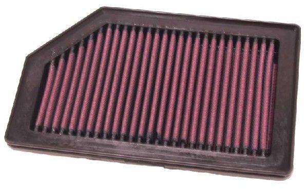 K&N Filters  33-2872 Luftfilter Länge: 221mm, Breite: 137mm, Höhe: 25mm, Länge: 221mm