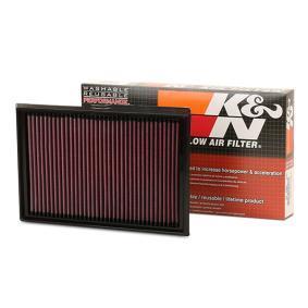 K&N Filters  33-2877 Légszűrő Hossz: 281mm, Szélesség: 190mm, Magasság: 30mm