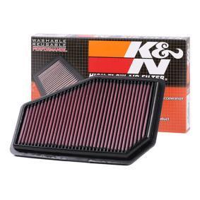 K&N Filters  33-2948 Air Filter Length: 279mm, Width: 175mm, Height: 25mm