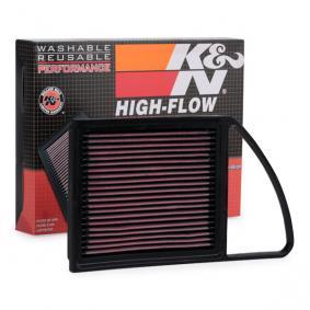 Filtre à air PEUGEOT 207 (WA_, WC_) 1.6 HDi 110 de Année 08.2009 112 CH: Filtre à air (33-2975) pour des K&N Filters