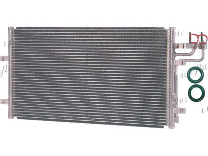 FRIGAIR  0805.3024 Kondensator, Klimaanlage Netzmaße: 628 x 374 x 16 mm, Kältemittel: R 134a