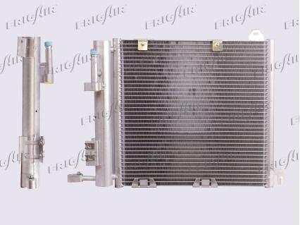 FRIGAIR  0807.2011 Kondensator, Klimaanlage Netzmaße: 370 x 380 x 20 mm, Kältemittel: R 134a