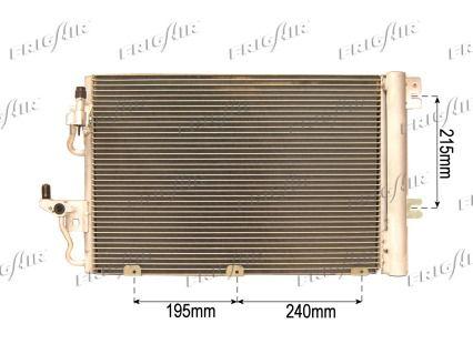 FRIGAIR  0807.2020 Kondensator, Klimaanlage Netzmaße: 555 x 380 x 15 mm