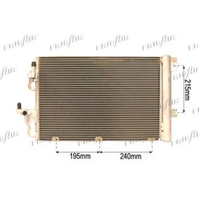Kondensator, Klimaanlage Netzmaße: 555 x 380 x 15 mm mit OEM-Nummer 93 178 958