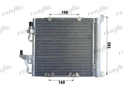 FRIGAIR  0807.2026 Kondensator, Klimaanlage Netzmaße: 375 x 380 x 20 mm, Kältemittel: R 134a