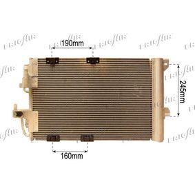 Kondensator, Klimaanlage Netzmaße: 555 x 385 x 16 mm, Kältemittel: R 134a mit OEM-Nummer 24431901