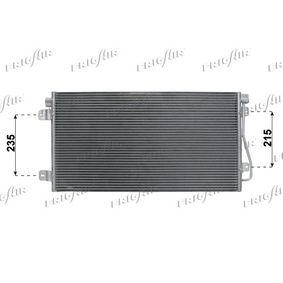 Kondensator, Klimaanlage Netzmaße: 690 x 380 x 16 mm, Kältemittel: R 134a mit OEM-Nummer 7701049665