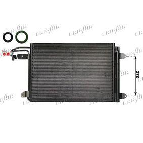Kondensator, Klimaanlage Netzmaße: 550 x 390 x 16 mm, Kältemittel: R 134a mit OEM-Nummer 1K0.820.411N