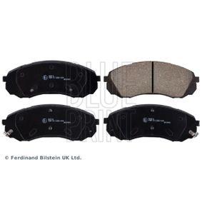 Bremsbelagsatz, Scheibenbremse Breite: 63,6mm, Dicke/Stärke 1: 17,5mm mit OEM-Nummer 581014DA00