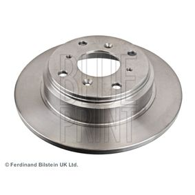 BLUE PRINT Brake disc kit Rear Axle, Solid, Coated