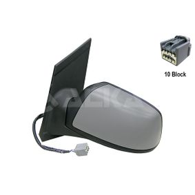 ALKAR Side view mirror Left, Electric, Convex, Electronically foldable, Heated, Primed