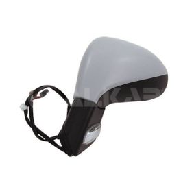 ALKAR Side view mirror Left, Electric, Complete Mirror, Convex, Electronically foldable, Heated, Primed