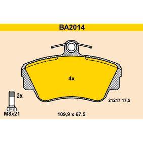 Bremsbelagsatz, Scheibenbremse Art. Nr. BA2014 120,00€