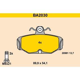 BARUM Bremsbelagsatz, Scheibenbremse BA2030 für FORD SCORPIO I (GAE, GGE) 2.9 i ab Baujahr 09.1986, 145 PS