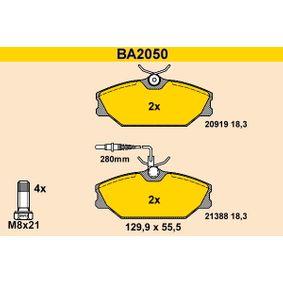 Bremsbelagsatz, Scheibenbremse Breite: 129,9mm, Höhe: 55,5mm, Dicke/Stärke: 18,3mm mit OEM-Nummer 7701203 070