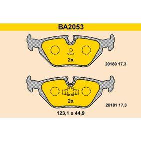 Bremsbelagsatz, Scheibenbremse Breite: 123,1mm, Höhe: 44,9mm, Dicke/Stärke: 17,3mm mit OEM-Nummer 34 21 1 162 446.