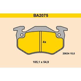 2003 Twingo c06 1.2 Brake Pad Set, disc brake BA2075