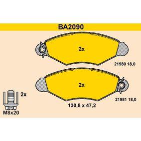 Renault Kangoo KC 1.5dCi Bremsbeläge Barum BA2090 (1.5dCi Diesel 2007 K9K 714)