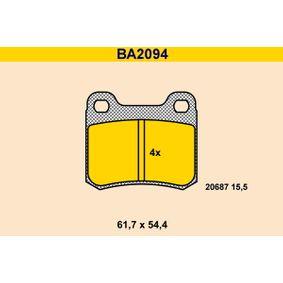 Bremsbelagsatz, Scheibenbremse Breite: 61,7mm, Höhe: 54,4mm, Dicke/Stärke: 15,5mm mit OEM-Nummer A 000 420 98 20