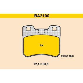 Bremsbelagsatz, Scheibenbremse Art. Nr. BA2100 120,00€