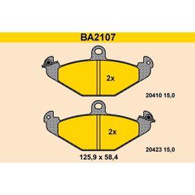 Bremsbelagsatz, Scheibenbremse Breite: 125,9mm, Höhe: 58,4mm, Dicke/Stärke: 15,0mm mit OEM-Nummer 6025308 186