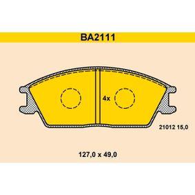 Bremsbelagsatz, Scheibenbremse Breite: 127,0mm, Höhe: 49,0mm, Dicke/Stärke: 15,0mm mit OEM-Nummer 45022-SA6-600